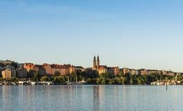 Panoramiczny ranku widok nad Högalid Sztokholm Obrazy Royalty Free