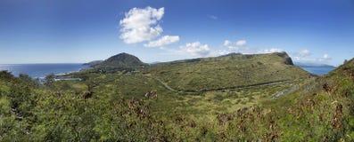 Panoramiczny Rozciągać się Od Kaiwi Makapuu na Oahu Hawaje obrazy royalty free