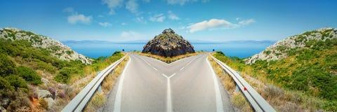 Panoramiczny rozdroże obrazy stock