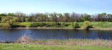 Panoramiczny rzeka krajobraz Obraz Royalty Free
