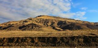 Panoramiczny strzał od gór Gobustan w lecie zdjęcie stock