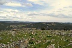 Panoramiczny w górach Toledo Fotografia Stock