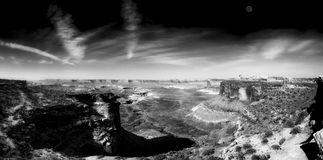 Grandview punkt, Canyonlands park narodowy obrazy stock