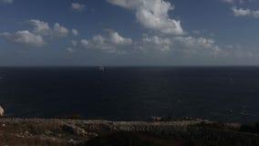 Panoramiczny wideo Błękitny grota teren w Malta, Europa zbiory wideo