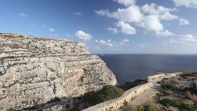 Panoramiczny wideo Błękitny grota teren w Malta, Europa zbiory