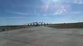 Panoramiczny wideo duży ładunku transportu samolot zbiory