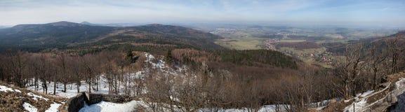 Panoramiczny widok Łużyckie góry Obrazy Royalty Free