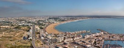 Panoramiczny widok Agadir, Maroko - Zdjęcie Stock