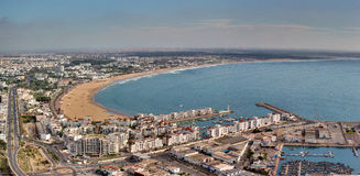 Panoramiczny widok Agadir, Maroko - Obraz Royalty Free
