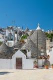 Panoramiczny widok Alberobello Puglia Włochy Obrazy Royalty Free