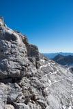 Panoramiczny widok Alps blisko Dachstein, Schladming, Austria fotografia royalty free
