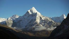 Panoramiczny widok Ama Dablam 6,170m i Khumbu dolina zbiory