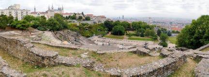 Panoramiczny widok amfiteatr Lion Francja obrazy royalty free
