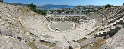 Panoramiczny widok Amphitheatre w Bodrum Obraz Stock