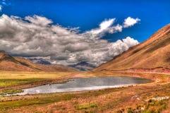 Panoramiczny widok Andes halni przy Abra losu angeles Raya przepustką, Puno, Peru zdjęcia royalty free