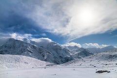 Panoramiczny widok Annapurna pasmo fotografia royalty free