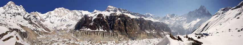 Annapurna podstawowego obozu panorama Obraz Stock