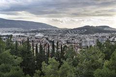Panoramiczny widok Ateny Obraz Stock