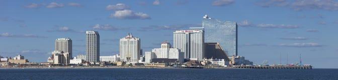Panoramiczny widok Atlantycki miasto, Nowy - bydło od oceanu Zdjęcia Stock