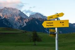 Panoramiczny widok Austriacki kraj zdjęcie royalty free