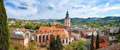 Panoramiczny widok Baden-Baden. Fotografia Royalty Free