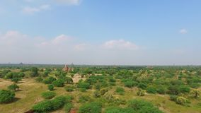 Panoramiczny widok Bagan krajobraz zdjęcie wideo