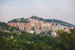 Panoramiczny widok Barcelona, Hiszpania zdjęcie stock