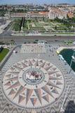Panoramiczny widok Belem okręg w Lisbon Zdjęcia Royalty Free