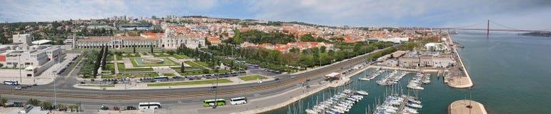 Panoramiczny widok Belem okręg w Lisbon, Portugalia Zdjęcia Royalty Free