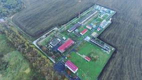 Panoramiczny widok benzynowy zakład przetwórczy zbiory
