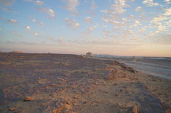 Panoramiczny widok biała pustynia Zdjęcie Stock