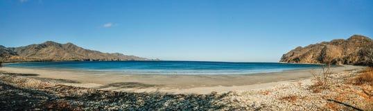Panoramiczny widok Blanca plaża Zdjęcie Stock