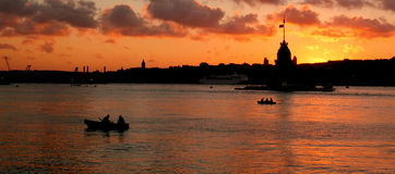 Panoramiczny widok Bosphorus obraz stock