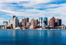 Panoramiczny widok Boston linia horyzontu, usa Zdjęcie Royalty Free