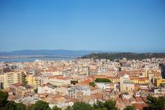 Panoramiczny widok Cagliari, Włochy obrazy stock