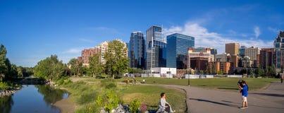 Panoramiczny widok Calgary śródmieście Obraz Stock