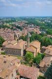 Panoramiczny widok CastellArquato. emilia. Włochy. Zdjęcie Royalty Free