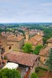 Panoramiczny widok Castellarquato emilia Włochy Zdjęcie Stock