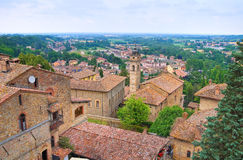 Panoramiczny widok Castellarquato emilia Włochy Zdjęcie Royalty Free