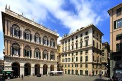 Panoramiczny widok centrum miasta genua, kapitał Liguria p Zdjęcie Stock