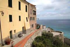Panoramiczny widok Cervo stary miasteczko fotografia royalty free