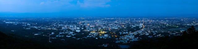 Panoramiczny widok Chiang Mai linia horyzontu Zdjęcia Royalty Free