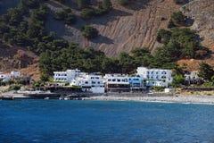 Panoramiczny widok Crete Grecja góry Libijska Denna strona Obrazy Royalty Free