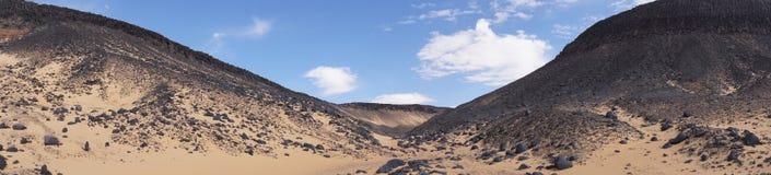 Panoramiczny widok czarna pustynia Zdjęcia Royalty Free