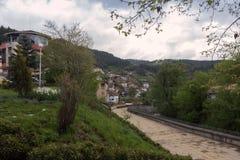 Panoramiczny widok Devin, Bułgaria Zdjęcie Stock