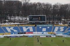 Panoramiczny widok Dinamo drużyny futbolowej Kijowski stadium obrazy royalty free