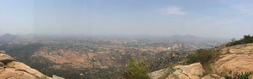 Panoramiczny widok doliny od Horsley wzgórzy Zdjęcia Royalty Free