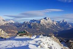 Panoramiczny widok dolomit góry obraz royalty free