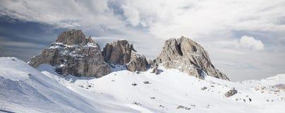 Panoramiczny widok dolomity Zdjęcia Stock