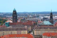 Panoramiczny widok Drezdeński Obrazy Stock
